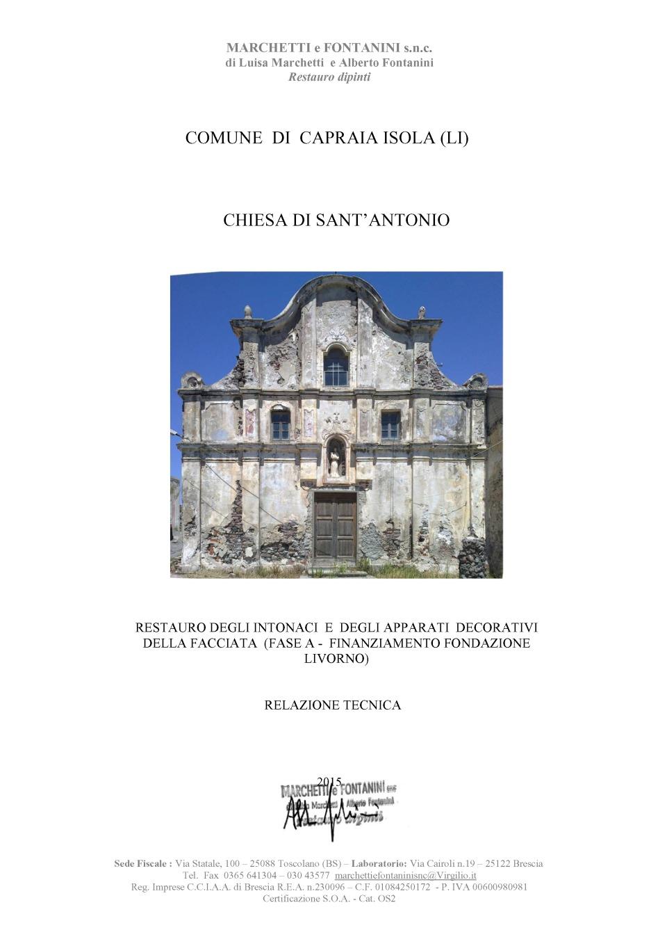 Capraia Isola Facciata S Antonio Relazione finale I Fase Lavori(2) (1)_Page_01